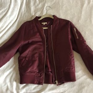 Urban Outfitters burgundy bomber
